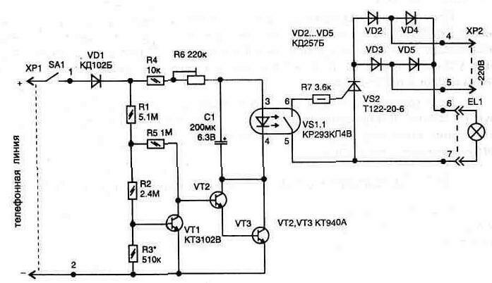 18. Автоматически включающаяся подсветка.  Вверх.  Рис. 3.9.  Электрическая схема для автоматического включения...