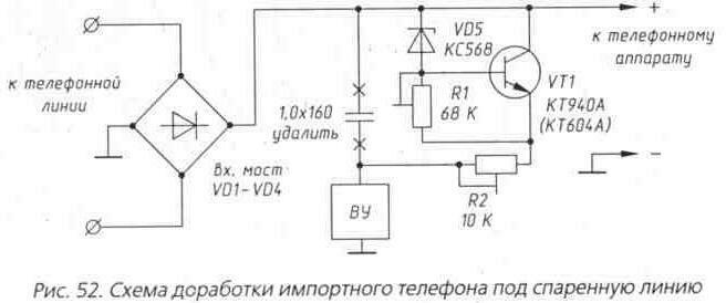 Телефонный атс на схеме