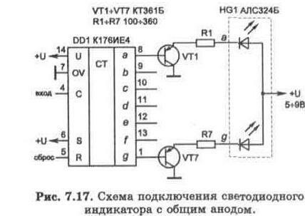 светодиодного индикатора с