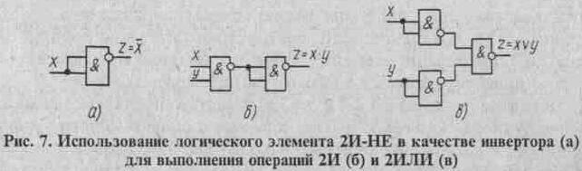 2И-НЕ в качестве инвертора