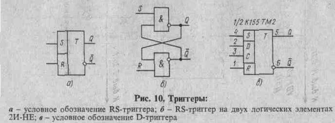 По сравнению с RS-триггером здесь имеются два новых вывода: D и С. Вход D называют информационным, а С...