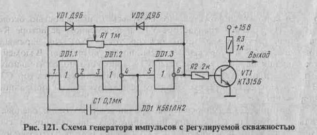 Рис. 121 Схема генератора