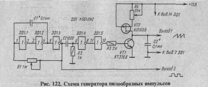 Генераторы импульсов (мультивибраторы, автогенераторы)
