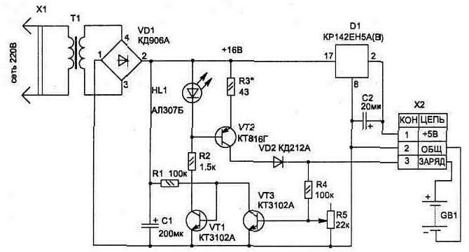 зарядные устройства для герметичных 6 в аккумуляторов 1.3 ач схемы.